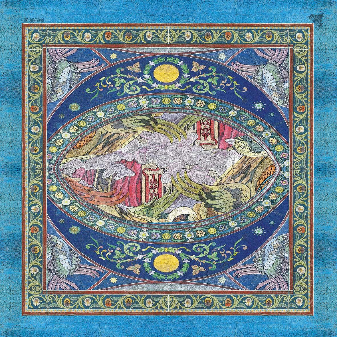 Шелковый платок линия декор