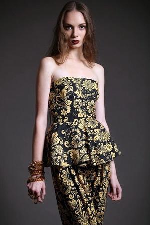 Женское платье из коллекции Елены Бадмаевой